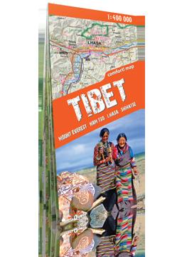 TYBET Mount Everest, Shigatse, Lhasa, Namtso laminowana mapa trekkingowa terraQuest EXPRESSMAP