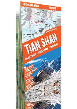 TIENSZAN TIAN SHAN laminowana mapa trekkingowa terraQuest EXPRESSMAP