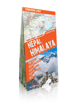 HIMALAJE NEPALSKIE Mount Everest, Annapurna, Dhalulagiri laminowana mapa trekkingowa terraQuset EXPRESSMAP