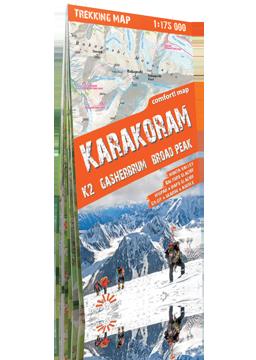 KARAKORUM K2 Gasherbrum Broad Peak laminowana mapa trekkingowa 1:175 000 EXPRESSMAP 2016