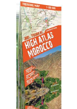 MAROKO ATLAS WYSOKI Jbel Toubkal laminowana mapa trekkingowa 1:100 000 EXPRESSMAP