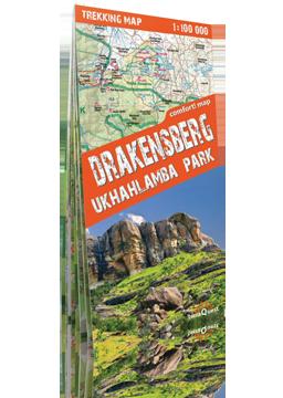 GÓRY SMOCZE DRAKENSBERG UKHAHLAMBA PARK laminowana mapa trekkingowa ver. Angielska EXPRESSMAP