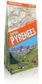 PIRENEJE ŚRODKOWE laminowana mapa trekkingowa 1:50 000 wersja angielska EXPRESSMAP