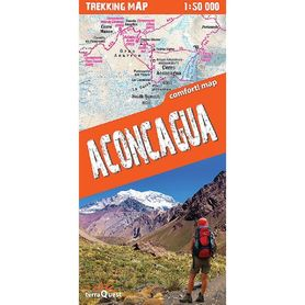 ACONCAGUA laminowana mapa trekkingowa ver. Angielska EXPRESSMAP