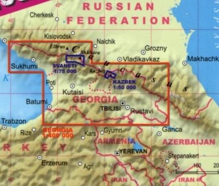 Gruzja Kaukaz Laminowana Mapa Turystyczna 1 400 000 Expressmap 2019