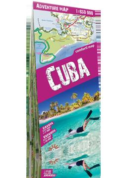 KUBA CUBA laminowana mapa samochodowo - turystyczna EXPRESSMAP 2016