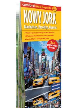 NOWY JORK MANHATTAN BROOKLYN QUEENS XL 2w1 przewodnik i mapa EXPRESSMAP