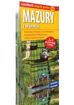 MAZURY I WARMIA XL 2w1 przewodnik i mapa EXPRESSMAP