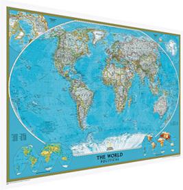 Świat classic (MURAL) 280x193cm. Trzy części, do naklejenia na ścianę - National Geographic