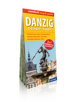 DREISTADT DANZIG GDINGEN ZOPPOT (GDAŃSK GDYNIA SOPOT) 2w1 przewodnik i mapa wersja niemiecka EXPRESSMAP