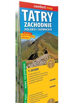 TATRY ZACHODNIE Polskie i Słowackie 1:30 000 laminowana mapa turystyczna EXPRESSMAP 2020