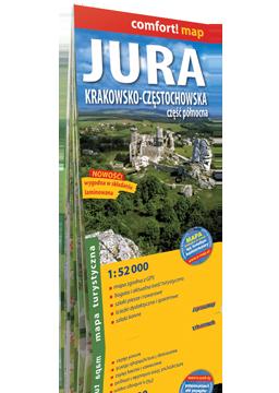 JURA KRAKOWSKO-CZĘSTOCHOWSKA część północna laminowana mapa turystyczna EXPRESSMAP