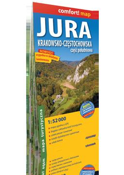 JURA KRAKOWSKO-CZĘSTOCHOWSKA część południowa laminowana mapa turystyczna EXPRESSMAP
