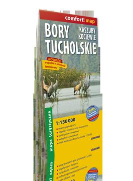 BORY TUCHOLSKIE KASZUBY KOCIEWIE laminowana mapa turystyczna 1:150 000 EXPRESSMAP