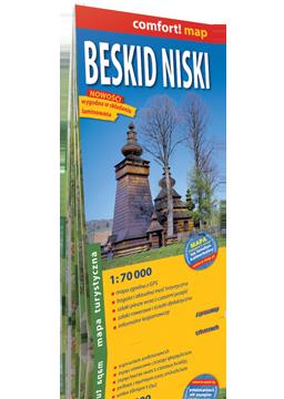 Beskid Niski laminowana mapa turystyczna EXPRESSMAP 2018