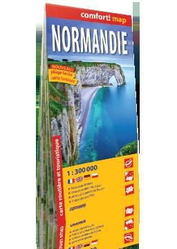 Normandia laminowana mapa samochodowo-turystyczna ver. Francuska EXPRESSMAP
