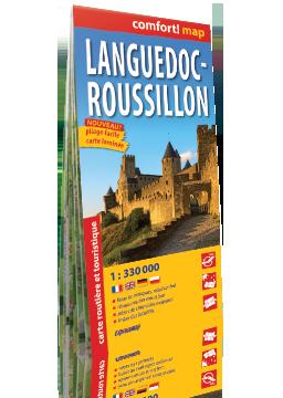 LANGWEDOCJA ROUSSILLON lamiananow mapa samochodowo-turystyczna 1:330 000 wersja francuska EXPRESSMAP