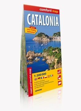 Katalonia laminowana mapa samochodowo-turystyczna ver. Angielska EXPRESSMAP