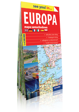 EUROPA papierowa mapa samochodowa EXPRESSMAP