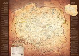 Turystyczna Mapa Polski - ścienna - B1 100 x 70 cm