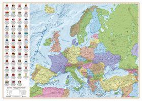 EUROPA ścienna mapa polityczna 1:4 500 000 EKOGRAF