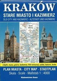 Kraków-Stare Miasto i Kazimierz 1:4 000 plan miasta GAUSS