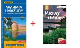 WARMIA I MAZURY MAPA + PRZEWODNIK PROMOCJA !! 2016
