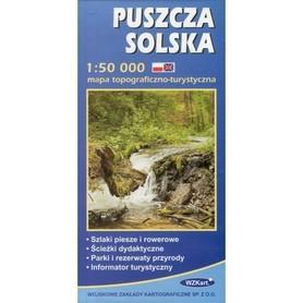 PUSZCZA SOLSKA mapa topograficzno-turystyczna 1:50 000 WZKART 2016