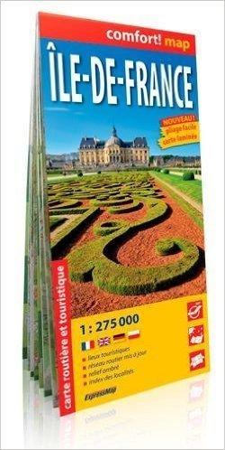 ILE DE FRANCE FRANCJA laminowana mapa turystyczna wersja francuska EXPRESSMAP