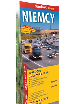 NIEMCY laminowana mapa samochodowa 1:900 000 EXPRESSMAP 2016