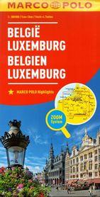 BELGIA I LUKSEMBURG mapa samochodowa MARCO POLO ZOOM 2016