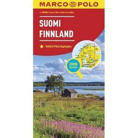 FINLANDIA mapa samochodowa MARCO POLO ZOOM 2016