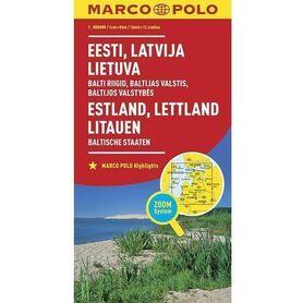 LITWA ŁOTWA ESTONIA mapa samochodowa MARCO POLO ZOOM 2016