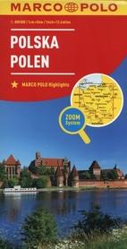 POLSKA mapa samochodowa MARCO POLO ZOOM 2016