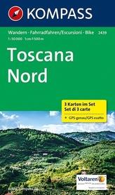 TOSKANIA Północna 2439 mapa turystyczna 1:50 000 KOMPASS