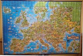 EUROPA MAPA DLA DZIECI mapa ścienna !!! EXPRESSMAP