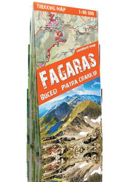 FAGARAS Góry Fogaraskie, Buczegi, Piatra Craiului laminowana mapa trekkingowa 1:80 000  EXPRESMAP 2016 !