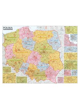 Polska. Mapa kodów pocztowych mapa ścienna 1:685 000  EXPRESSMAP