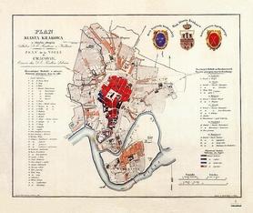 KRAKÓW plan miasta z 1836 AUSTERIA