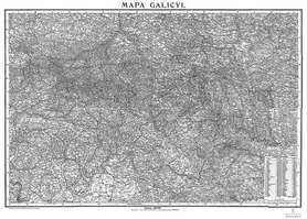 GALICJA mapa z 1900 ROKU ! AUSTERIA