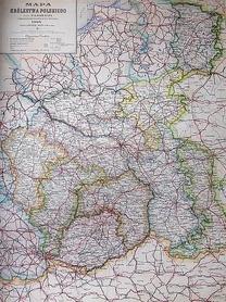 MAPA KRÓLESTWA POLSKIEGO Z 1914 ROKU AUSTERIA