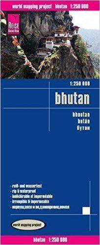 BHUTAN mapa samochodowa 1:250 000 REISE KNOW HOW 2016