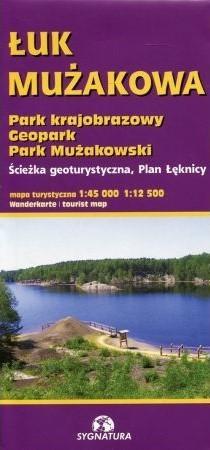 ŁUK MUŻAKOWA Park Krajobrazowy, Geopark, Park Mużakowski, mapa turystyczna 1:45 000 1:12 500 SYGNATURA