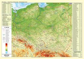 POLSKA dwustronna mapa ścienna fizyczno-administracyjna 1:1 000 000 EKO-GRAF