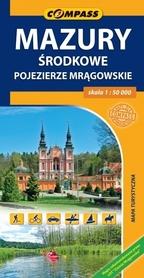 MAZURY ŚRODKOWE Pojezierze Mrągowskie mapa turystyczna 1:50 000 COMPASS 2015