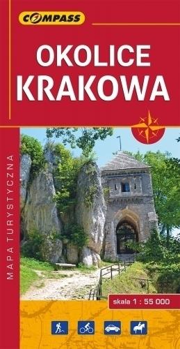 OKOLICE KRAKOWA mapa turystyczna 1:50 000 COMPASS 2018