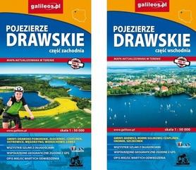 ZESTAW POJEZIERZE DRAWSKIE część WSCHODNIA I ZACHODNIA mapy turystyczne 1:50 000 PLAN
