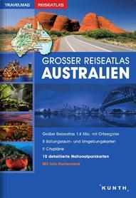 AUSTRALIA atlas samochodowy 1:4 000 000 KUNTH 2016/2017