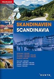 SKANDYNAWIA DANIA NORWEGIA SZWECJA FINLANDIA atlas samochodowy 1:30 000/1: 950 000 KUNTH