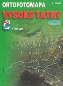 TATRY WYSOKIE ORTOFOTOMAPA 1:20 000 VKU HARMANEC